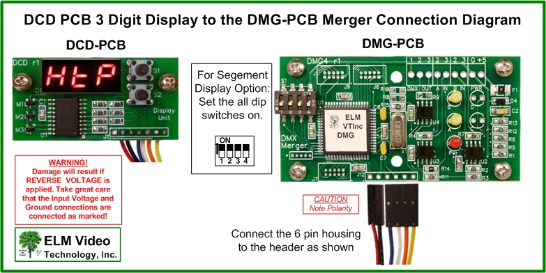 DCD PCB 3 Digit Display DMG PCB Connection Diagram DMX Merger Display dmx merger pcb combiner elm video technology Basic Electrical Wiring Diagrams at bakdesigns.co
