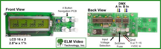 Dmx Analyzer    Tester Lcd Pcb Easily View Dmx512 Data