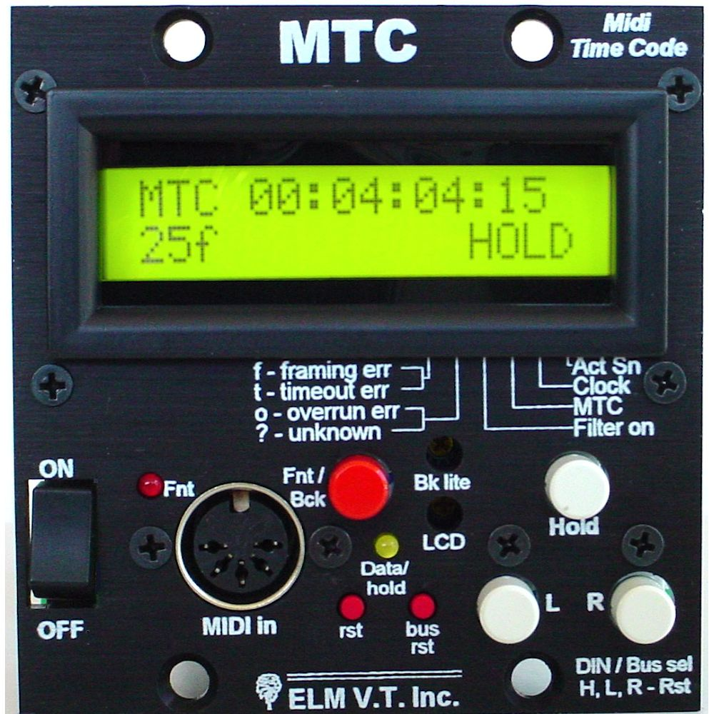 midi time code mtc reader analyzer elm video tech