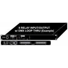 "DMX Relay Driver Controller 19"" 1RU Rack Mount"