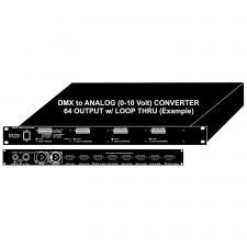 "DMX 0-10 Volt Analog Converter 19"" 1RU Rack Mount"