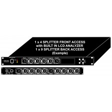 DMX Splitter 1x9 and 1x4 1RU Rack Mount