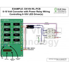 DMX 0-10 Volt Analog Converter PCB with Relay Control