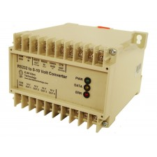 RS232 to 0-10 Volt Analog Converter DIN Rail / Wall Mount