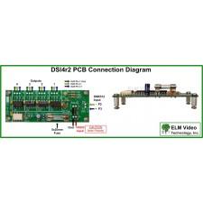 DMX Splitter 1x4 Optical Input PCB