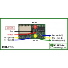 DMX Optical Input Isolator In Line PCB